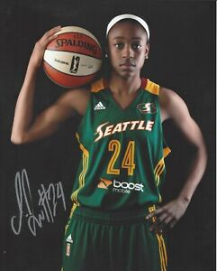 JEWELL LOYD AUTOGRAPH SIGNED 8X10 PHOTO SEATTLE STORM WNBA COA