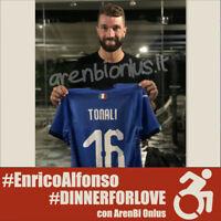 Italia Tonali maglia preparata vs USA 2019 2020 match worn issued shirt 120 COA