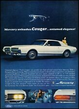 1967 Mercury Cougar Ford Original Vintage Advertisement Print Art Car Ad K104