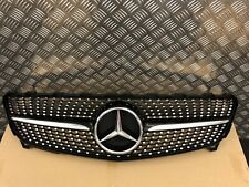 DIAMOND GRILLE MERCEDES W176 A CLASS AMG SPORT GLOSS BLACK 2012-2015 PRE FACE