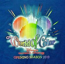 World of Color Royal Blue Annual Passholder Hoodie Adult 3XL DCA 2010 NEW NWT
