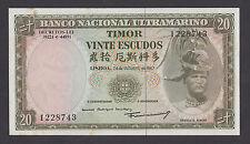 TIMOR  20 Escudos 1967 UNC  P26  Portuguese Colony  toning (foxing)