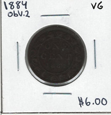 Canada 1884 Large 1 Cent Obv. 2 VG Lot#2