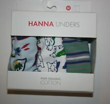 New Hanna Andersson Boy Unders 3 Pack Boxer Briefs Underwear Medium 7 10 yr Bear