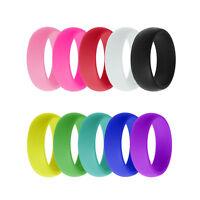 10pcs/Set Silicone Wedding Ring Men Women Flexible Causal Rubber Band Gifts 6-12