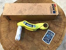 """Look Ergostem yellow stem 26.0mm 1"""" quill NOS Made France track time trial"""