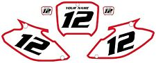 2002-2003 HONDA CR250 Custom Pre-Printed White Backgrounds Red Bold Pinstripe
