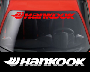 HANKOOK TIRES Windshield Banner Vinyl Decal Sticker for Toyota Honda & Nissan #2