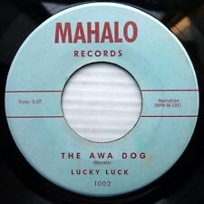 LUCKY LUCK Hawaiian music Poetry MAHALO 45 THE AWA DOG / HERE IS HAPPINESS J1043