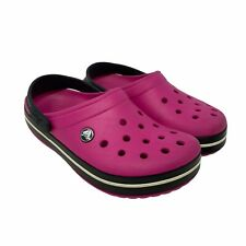 Crocs Classic Clog Unisex Size Women's 7 / Men's 5 Hot Pink Black White