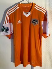 Adidas Authentic MLS Jersey Houston Dynamo Team Orange w/White Collar sz M
