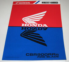 Werkstatthandbuch Honda CBR 900 RR Fire Blade Motor Teleskopgabel Stand 1994!