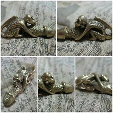 Brass Figurine 1987 Kama Sutra Monkey & Penis Sex Thai Amulet Statue C8-L-A