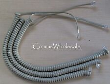 Meridian Norstar Option Nortel BCM Handset Curly Cord (Cable) Beige x 3