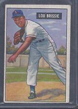 1951 Bowman #155 Lou Brissie Pitcher Cleveland Indians EX to EX Plus