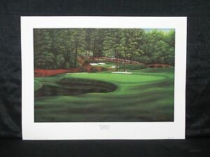Marci L. Rule Augusta Georgia Masters White Dogwood Hole #11 Golf Lithograph