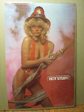 Hot Stuff firemen 1986 Hot girl ORIGINAL man cave car garage Poster 619