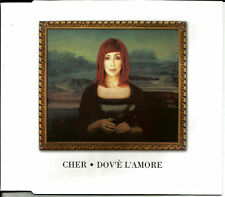 CHER w/ TODD TERRY Dov'e L'Amore  w/ 2 RARE MIXES UK CD Single USA Seller SEALED