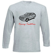 POLISH POLONEZ CARO FSO RACING P - GREY LONG SLEEVED TSHIRT- ALL SIZES IN STOCK