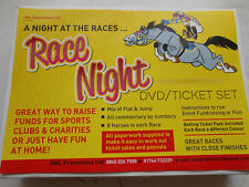 THE SUPERB RACE NIGHT DVD HORSE RACING SET -NEW LOOK 50 PER RUNNER PAD TICKETS