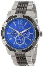 NEW August Steiner AS8058BU Mens Quartz Multi-Function Sport Bracelet Blue Watch