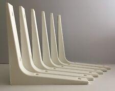 6 x IKEA EKBY STÖDIS SHELF BRACKETS IN WHITE Wall Shelves Plastic Strong 17x17cm