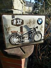 BMW Motorcycles LARGE Official Wall Sign - The classic R32 FIRST BMW Motorcycle
