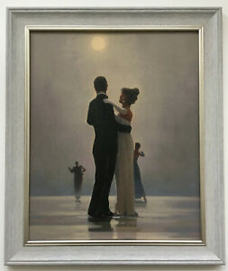 Dance Me to the End of Love Jack Vettriano Framed Canvas Print 51cm x 43cm Grey