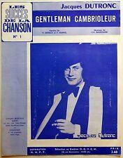 Partition alt partitur sheet music = Jacques Dutronc : Gentleman cambrioleur