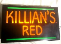 KILLIANS RED Lighted  Beer Bar Sign - Works Great!