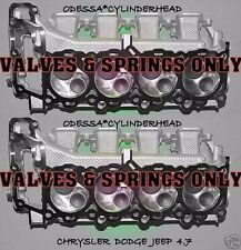 2 CHRYSLER DODGE JEEP CHEROKEE DAKOTA 4.7 SOHC CYLINDER HEADS valves&spring only