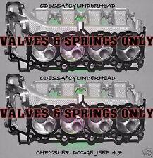2 CHRYSLER DODGE JEEP CHEROKEE DAKOTA 4.7 SOHC CYLINDER HEADS VAL&SPR ONLY 99-04