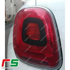 fiat 500X adesivi sticker decal luci stop fari posteriori tuning carbon vinile