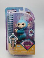 WowWee Fingerlings Monkeys - Fingerblings - Glam Turquoise/Blue - Friendly In...