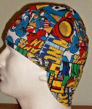 Avengers Squares Handmade 100% cotton, Welder, Biker, pipefitter,4 panel hat