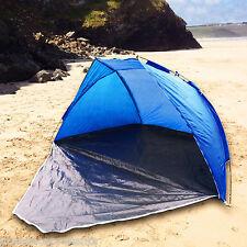 Blue Beach Tent With Door For Shelter Wind & Rain Picnics Festivals Pets Garden