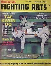 9/74 FIGHTING ARTS GENERAL CHOI HONG HI MOSES POWELL KARATE KUNG FU MARTIAL ARTS