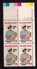 US USA Sc# 1910 MNH FVF PLATE# BLOCK Red Cross Nurse Baby