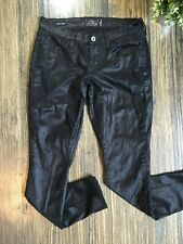 Lucky Brand Jeans Charlie Super Skinny Shiny Black Size 6 / 28 * 28 x 28 1/2