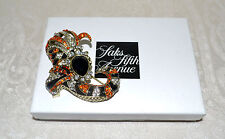 "New $170 Heidi Daus ""Well-Heeled"" Bedazzled Shoe Pin Brooch Swarovski Crystals"