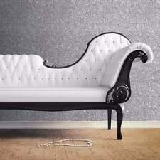 10M Muriva Sparkle Silver Glitter Feature Wallpaper (701352) Glamour Glitz Bug