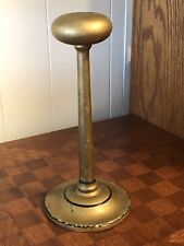 """Cool Vintage Painted Wood Gold Hat or Wig Stand 9.5"""""""