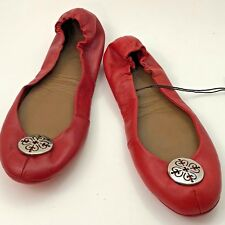 VELEZ Women's Ballet Flat Shoes Baleta Artisan Red Size Euro 37