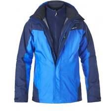 BERGHAUS Mens Island Peak 2 Layer Gore-Tex 3 in 1 Jacket Blue/Navy - Small