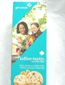 Girl Scout ~ Toffee-Tastic Cookies~ GLUTEN FREE~ Lot of 5 Boxes~ BB Sept 2021