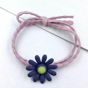 1PC Purple Daisy Flower Fashion Elastic Hair Ring Rubber Bands Hair Rope