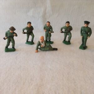 Vintage cast Iron WW1 Soldiers, Lot of 6