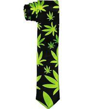 Marijuana Weed Cannabis  Neck Ties For Men &  Adults - Slim Style (ENTiePr1)