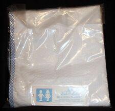 Little Lords & Ladies Baby Girl's or Boy's WHITE Receiving Blanket - NIB