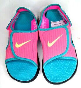 Nike Sunray Adjust Pink Sandals Youth Petite Size US 4Y, UK 2.5, EU 35, 22 cm